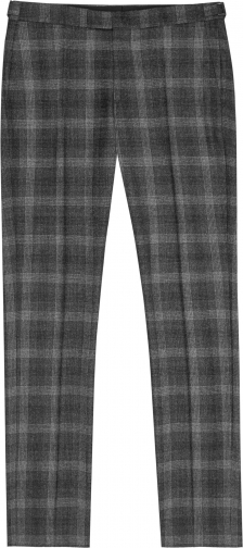 Reiss Russell - Slim Fit Check Charcoal, Mens, Size 36 Trouser