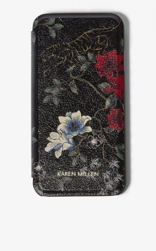 Karen Millen Tiger Print Flap Phone Case