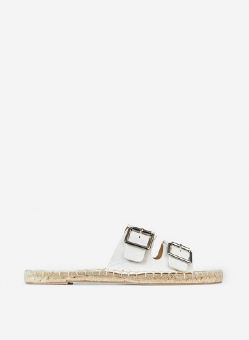 Dorothy Perkins White 'Farla' Double Strap Sandals