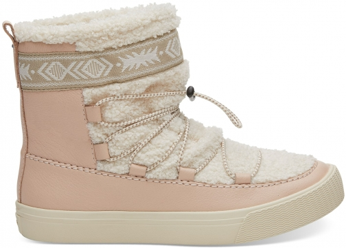 Toms Dark Blush Leather Women's Alpine Boot