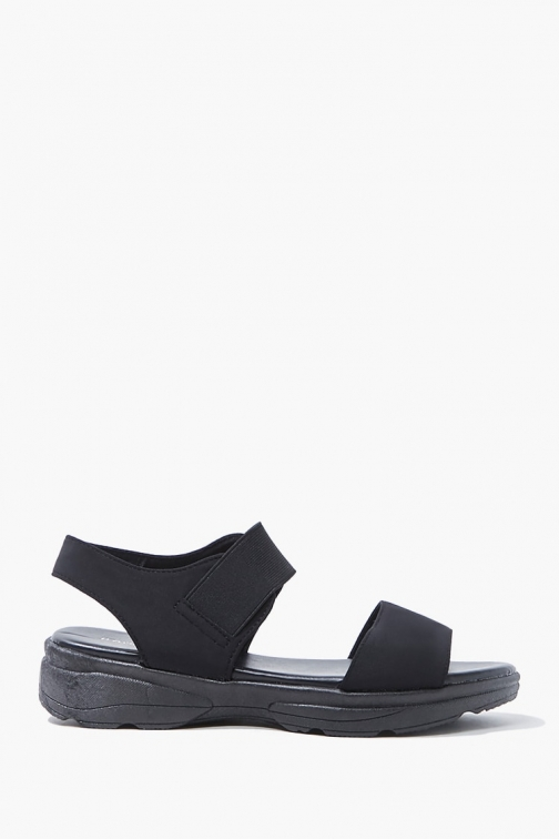 Forever21 Forever 21 Caged Textured , Black Sandals