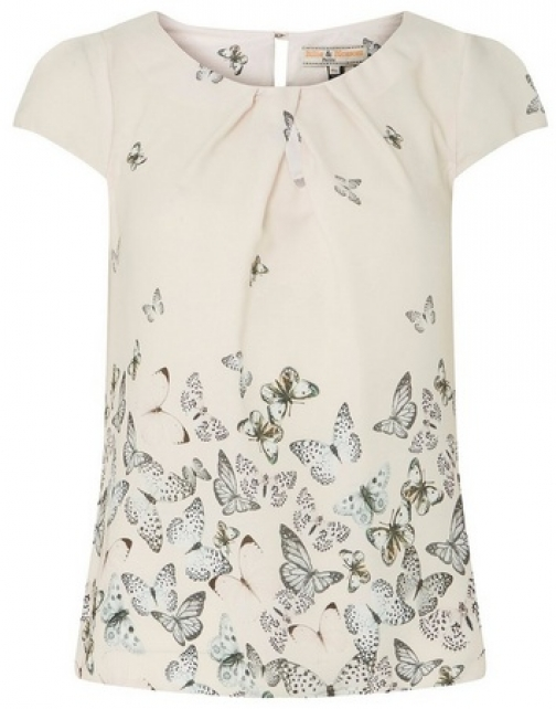 Dorothy Perkins Womens **Billie & Blossom Petite Blush Butterfly - Pink, Pink Top