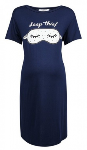 Dorothy Perkins Maternity Navy 'Sleep Thief' Nightie Pyjama