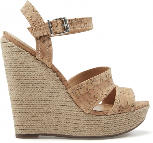 Schutz Shoes Dorida - 5 Natural Cork Cork Wedge Sandal