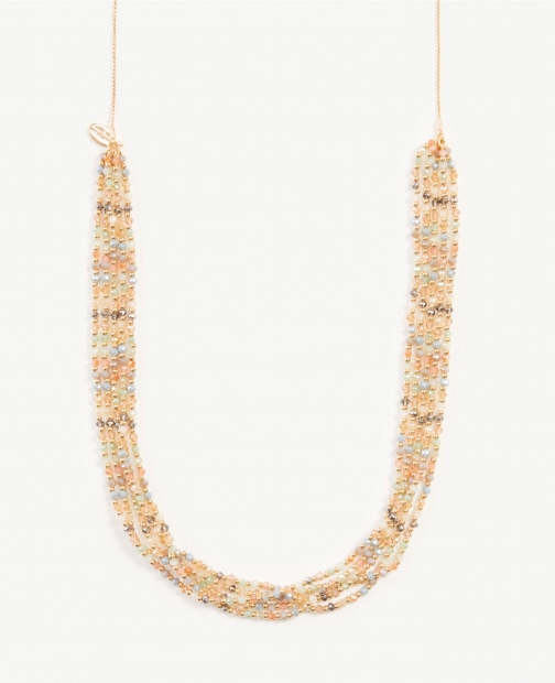 Ann Taylor Layered Beaded Pull Through Necklace