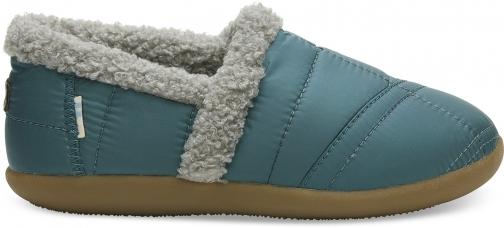 Toms Stellar Blue Quilted Youth House Slippers