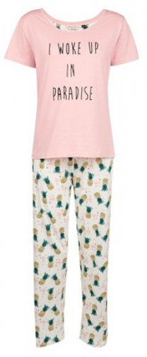 Dorothy Perkins Pink 'Woke Up Paradise' Set Pyjama