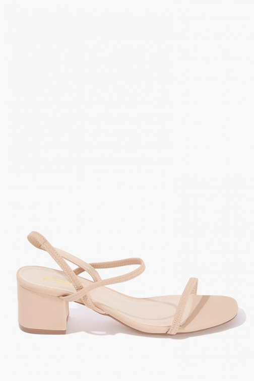 Forever21 Slingback Block Heels At Forever 21 , Nude Shoes