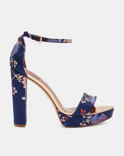 Ted Baker Chinoiserie Jacquard Platform Sandals