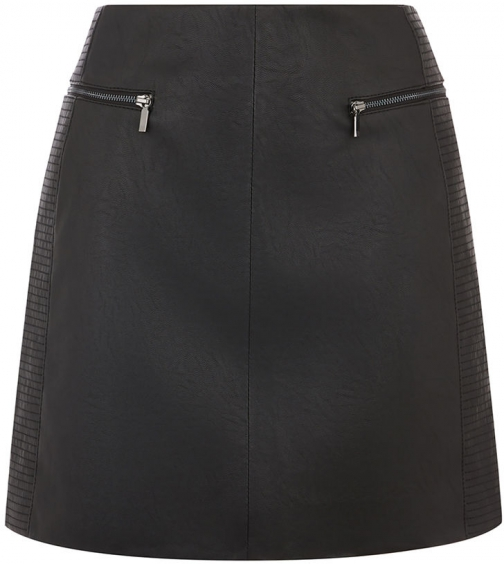 Oasis FAUX LEATHER STITCH Skirt