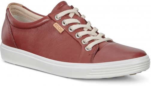 Ecco Womens Soft 7 Sneaker Size 4-4.5 Fired Brick Trainer