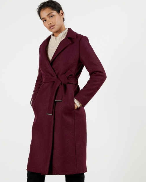 Ted Baker Buttoned Wrap Coat Jacket
