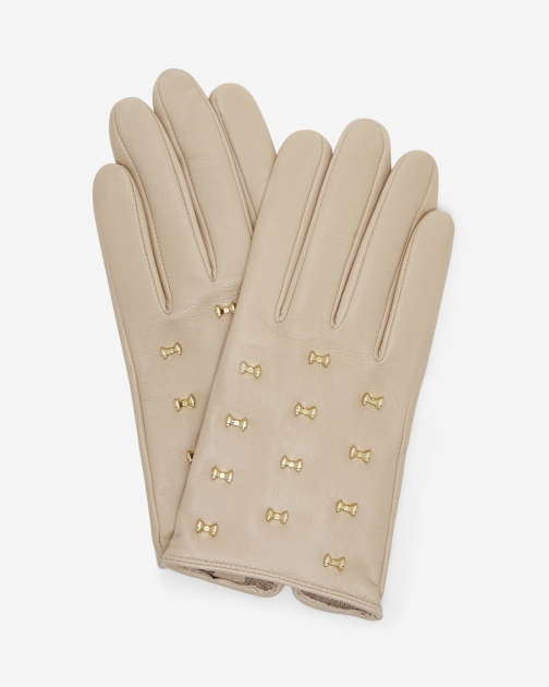 Ted Baker Micro Bow Leather Camel Glove