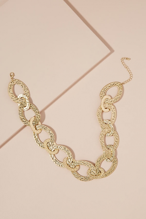 Anthropologie Textured Multi-Hoop Necklace