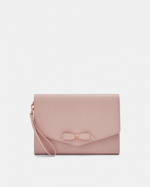 Ted Baker Bow Leather Envelope Pouch