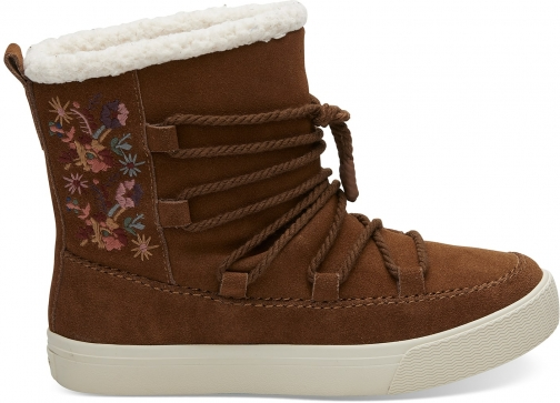 Toms Dark Amber Suede Women's Alpine Boot