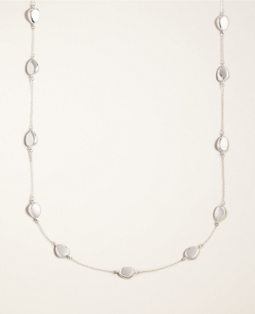 Ann Taylor Metal Nugget Station Necklace