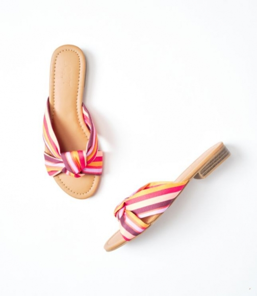 Loft Striped Knotted Slide Sandals
