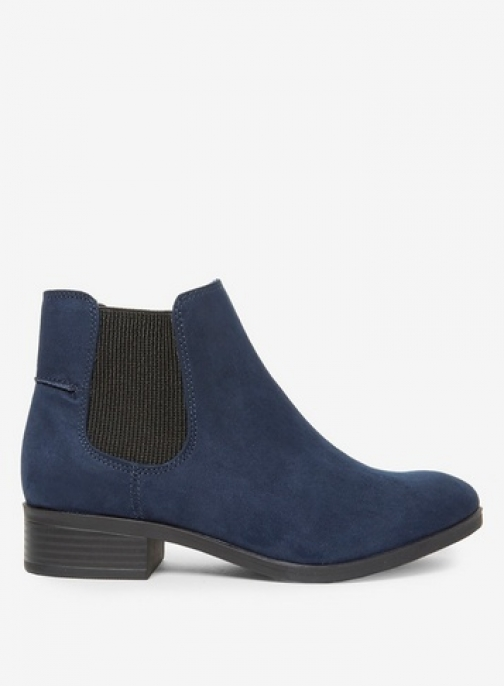 Dorothy Perkins Womens Navy Widefit 'Monty' - Blue, Blue Chelsea Boot