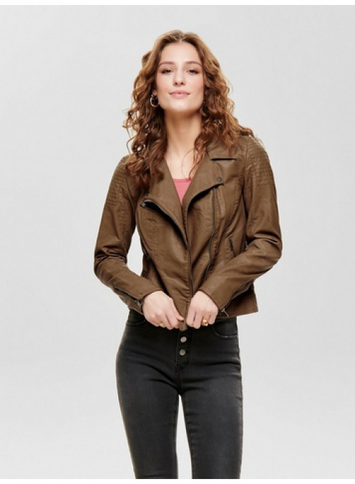 Dorothy Perkins Brown Faux Leather Jacket