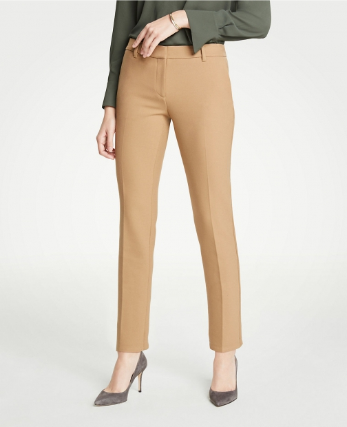 Ann Taylor The Ankle Pant Doublecloth - Curvy Fit Trouser