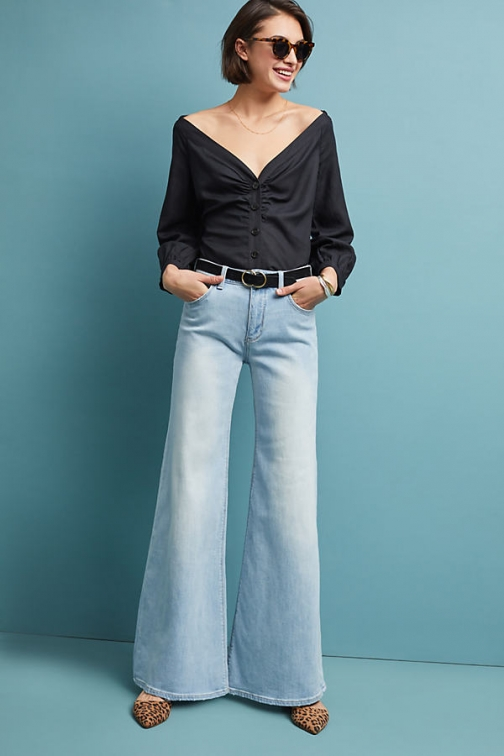 Pilcro And The Letterpress Pilcro High-Rise Wide-Leg Jeans Wide Leg Jeans