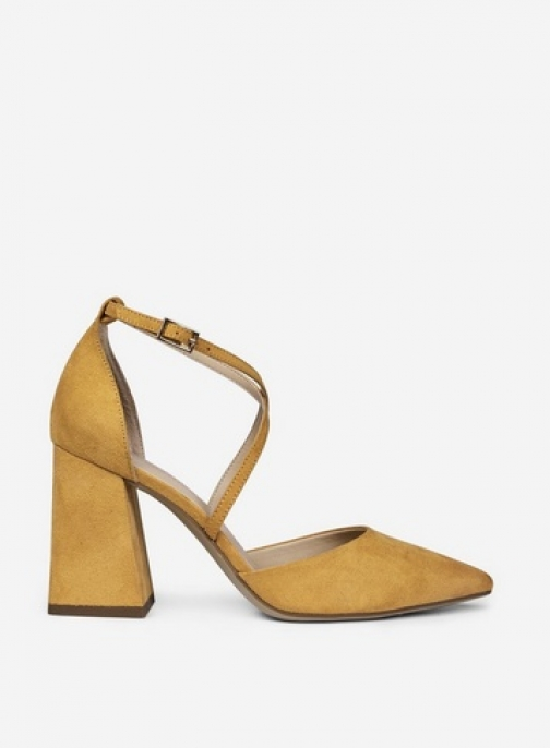 Dorothy Perkins Wide Fit Yellow 'Daria' Shoes Court
