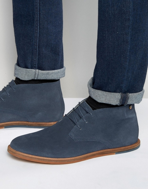 Frank Wright Strachan Chukka Navy Suede Boot