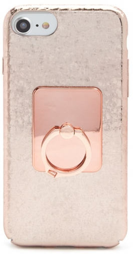 Forever21 Forever 21 Metallic Phone & Ring Set For IPhone 6/7/8 , Rose Gold Case
