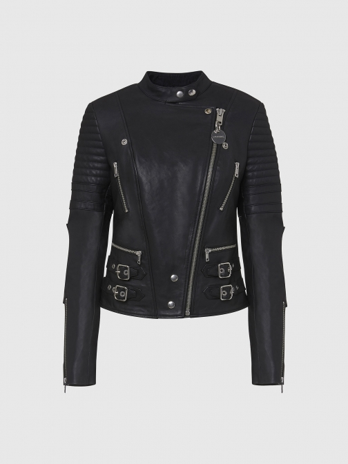 Diesel 0IAXC - Black - XS Leather Jacket