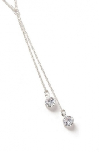 Dorothy Perkins Womens Cubic Zirconia - Silver, Silver Necklace