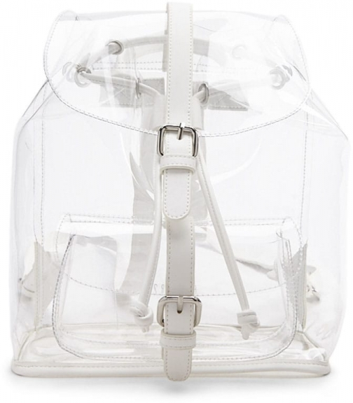 Forever21 Forever 21 Faux Leather Trim , White Backpack