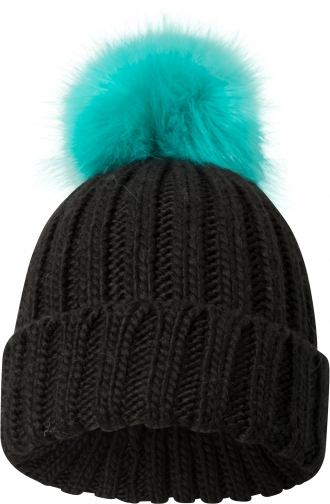 Mountain Warehouse Geneva Womens Fluff Cable - Black Beanie