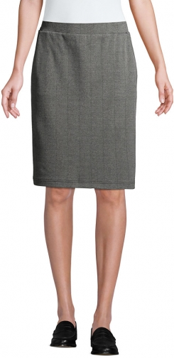 Lands' End Women's Petite Sport Knit - Lands' End - Gray - XS Pencil Skirt