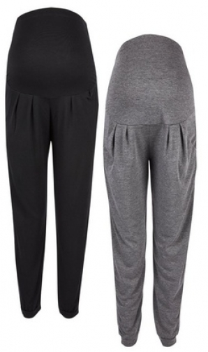 Dorothy Perkins 2 Pack Maternity Black And Grey Overbump Jogger