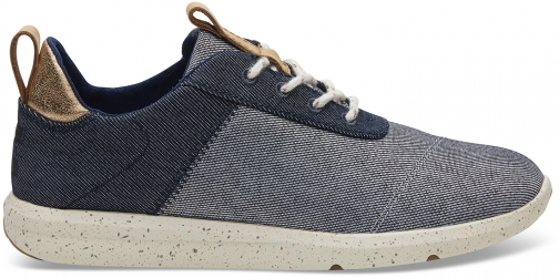 Toms Navy Denim Women's Cabrillo Sneakers Shoes Trainer