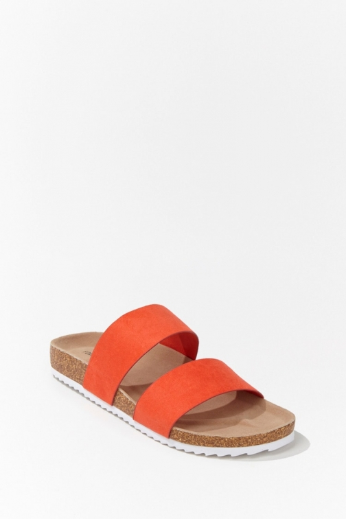 Forever21 Forever 21 Faux Suede , Orange Sandals