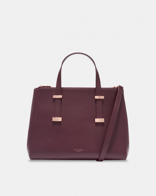Ted Baker Faceted Bow Leather Bag Tote