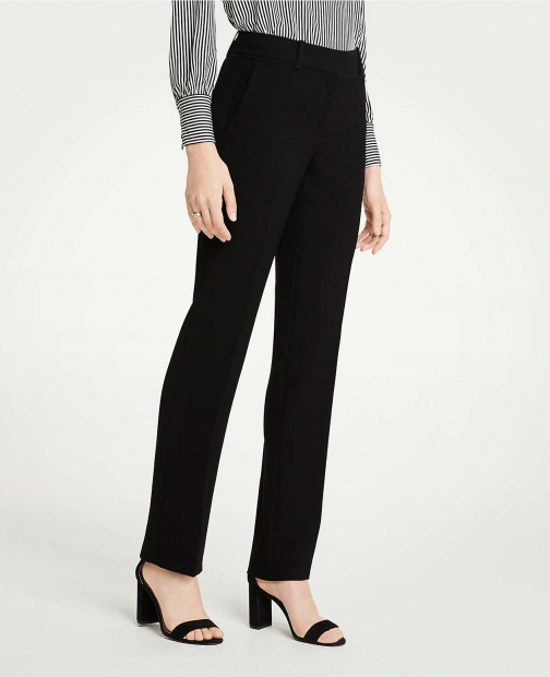 Ann Taylor The Straight Pant Doubleweave - Classic Fit Suit