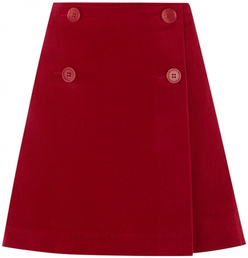 Oasis 4 BUTTON FRONT CORD Skirt