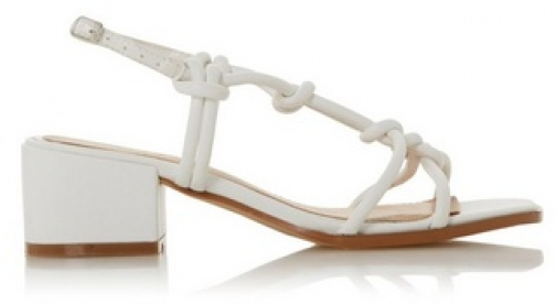Head Over Heels By Dune White 'Jiji' Ladies Mid Heel Sandals