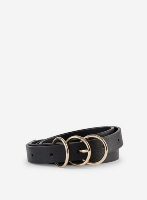 Dorothy Perkins Black 3 Buckle Belt