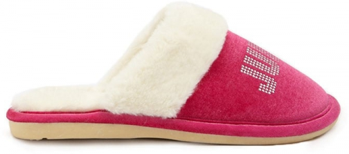Juicy Couture Rhinestone At Forever 21 Hot Pink Slippers