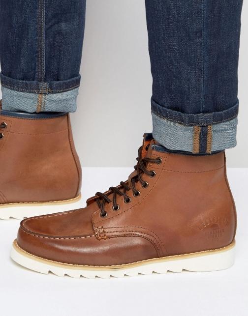 Bellfield Heritage Tan Leather Boot