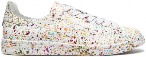 Schutz Shoes Anastasie Leather Sneaker - 8 MULTICOLOR SPLASH LEATHER Trainer