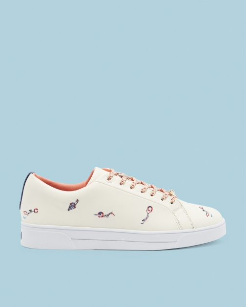 Ted Baker Swimmers Embroidered Trainer