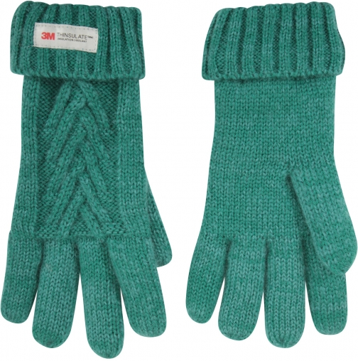 Mountain Warehouse Thinsulate Cable Knit Womens - Green Glove