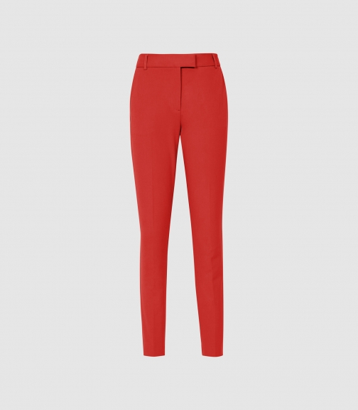 Reiss Joanne - Cropped Red, Womens, Size 4 Tailored Trouser