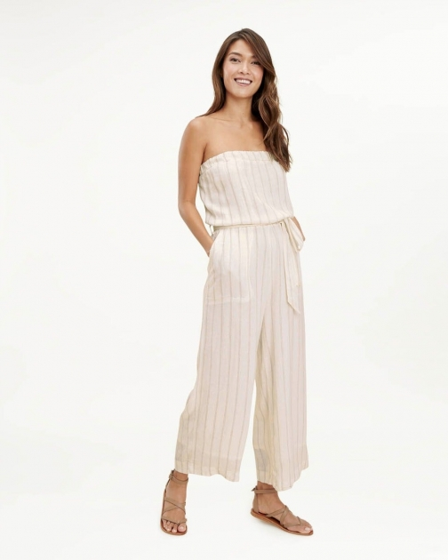 Oasis Ticking Stripe Cropped Jumpsuit