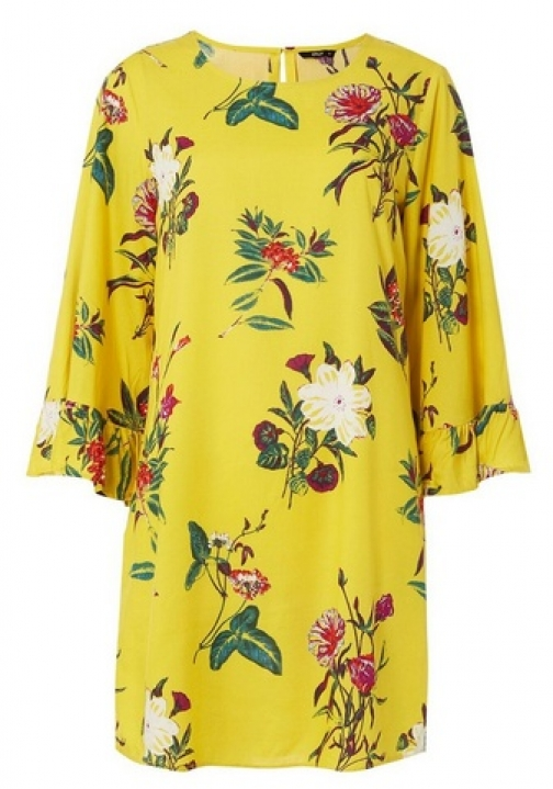 Dorothy Perkins Womens **Only Yellow Floral Print Shift - Yellow, Yellow Dress